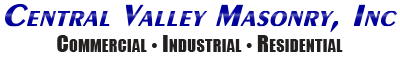 Central Valley Masonry Inc. Logo